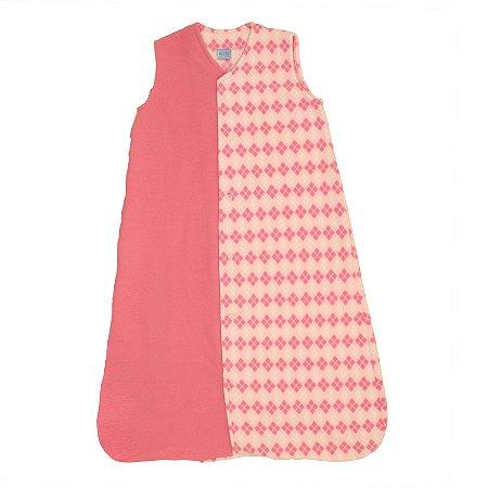 Saco de Dormir Baby Soft Inverno Sonho Pink Botão De 1 até 12 Meses