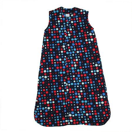 Saco de Dormir Baby Soft Bolinhas Coloridas Botão De 1 até 12 Meses