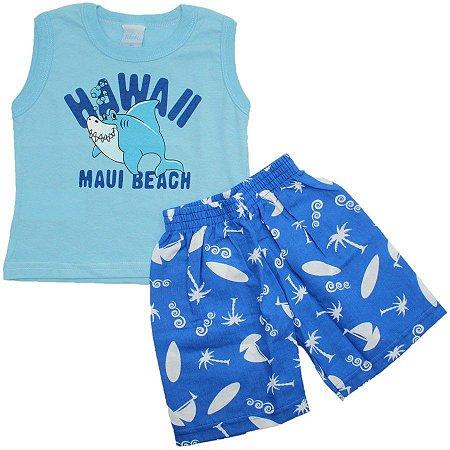 Conjunto Hawaii Blue TAM P - M - G