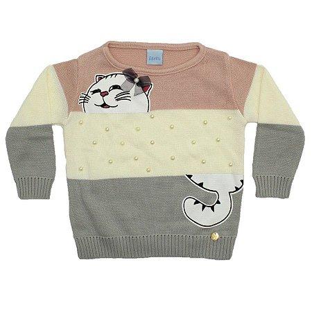 Blusa Cats Tricô Cinza