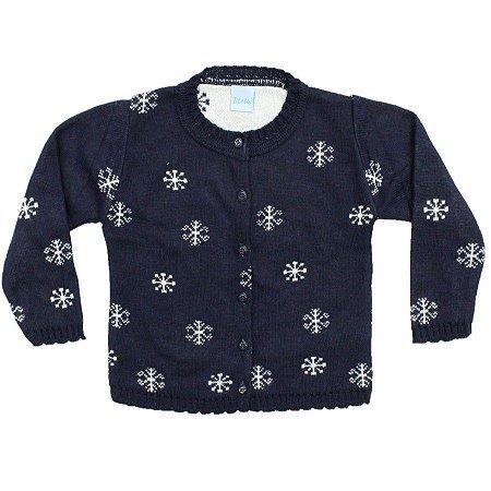 Blusa Flocos de Neve Tricô