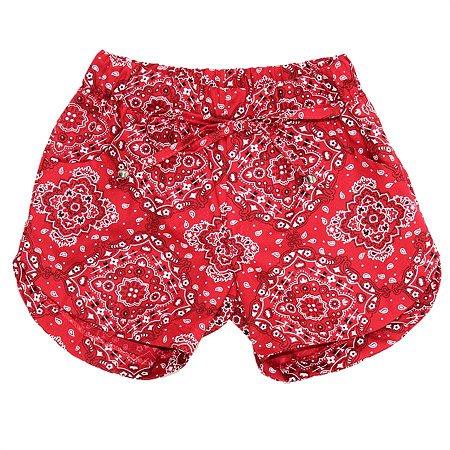 Shorts Feminino Mandala Vermelho TAM 3 e 4