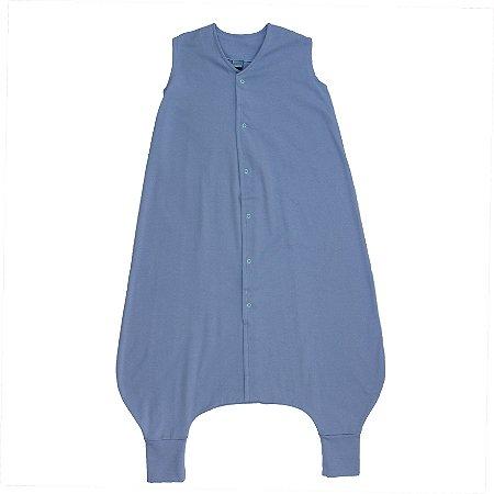 Saco de Dormir Crescidinhos Azul Algodão Premium Botões 4 até 7 Anos