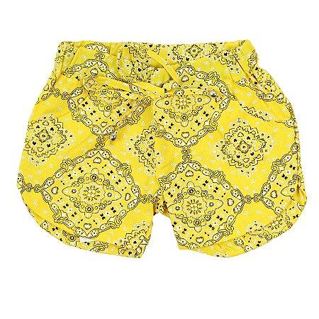 Shorts Feminino Mandala Amarelo TAM 4