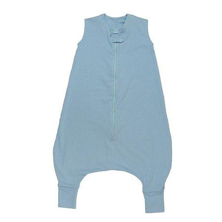 Saco de Dormir Crescidinhos Azul Algodão Premium Ziper 4 até 7 Anos