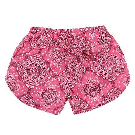 Shorts Feminino Mandala Rosa TAM 3 e 4
