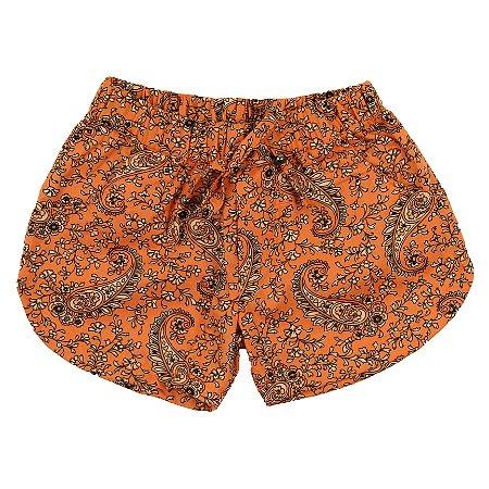 Shorts Feminino Mandala Laranja TAM 4