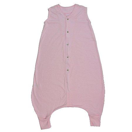 Saco de Dormir Crescidinhos Rosa Suedine Botões 4 até 7 Anos