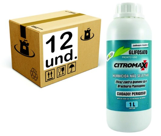 GLIFOSATO 0,48% MATA MATO HERBICIDA CITROMAX - CX 12x1 L