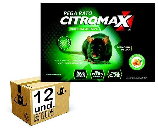 RATOEIRA ADESIVA CARTELA COLA PEGA RATO CITROMAX - CX 12un