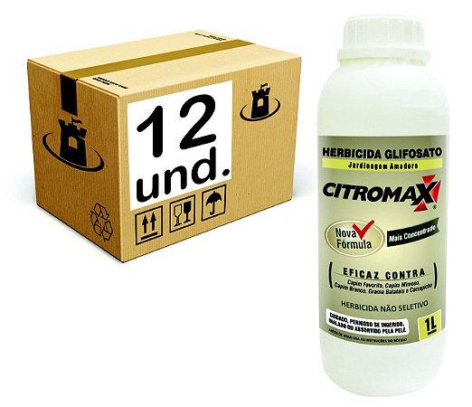 GLIFOSATO 1% MATA MATO HERBICIDA CITROMAX - CX 12x1 L