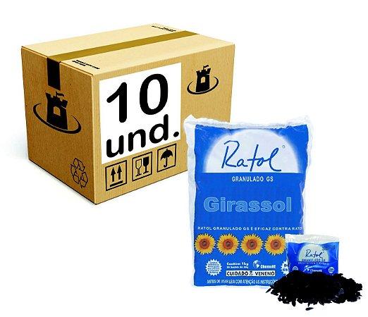 Raticida Ratol Girassol ChemoNE Saco - CX 10x(20x50g)1Kg