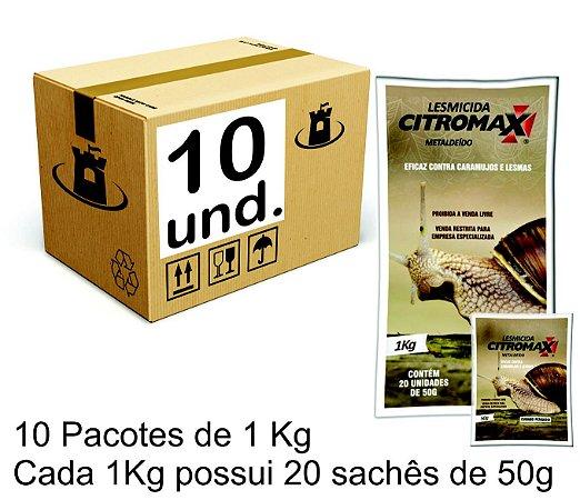 LESMICIDA RESISTENTE UMIDADE CITROMAX - CX 10x(20x50g/01kg) 10Kg