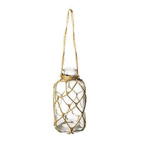 Vaso Decorativo De Vidro Aereo Incolor 11X11X15,5 C/1 Un