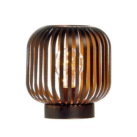 Lanterna Decorativa Oval Pre (Luminarias) C/1 Un
