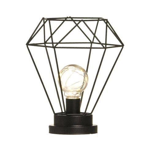 Lanterna De Metal Diamante Pre (Luminarias) C/1 Un