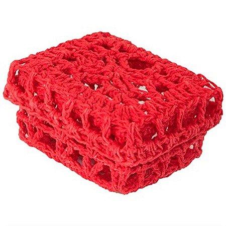 Mini Caixinha Retangular de Crochê - Vermelha