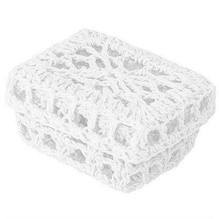 Mini Caixinha Retangular de Crochê - Branca