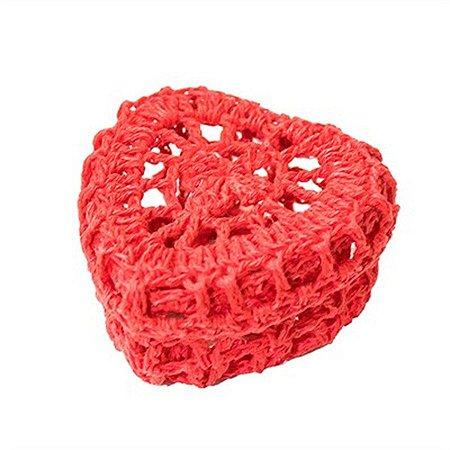 Mini Caixinha Coração de Crochê para Lembrancinha - Vermelha