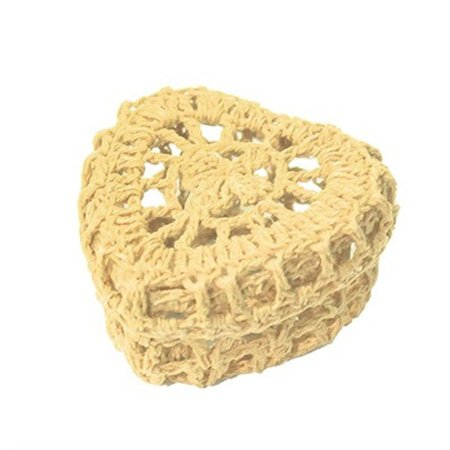 Mini Caixinha Coração de Crochê para Lembrancinha - Nude