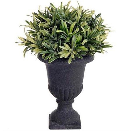 Vaso Decorativo Médio de Folhagem Artificial - 21 cm
