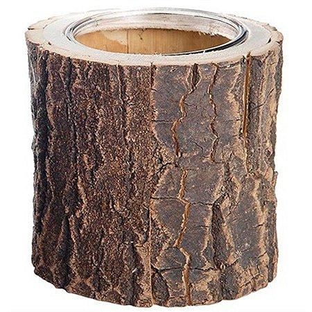 Vaso Rústico - Tronco de Árvore - Grande (13cm)