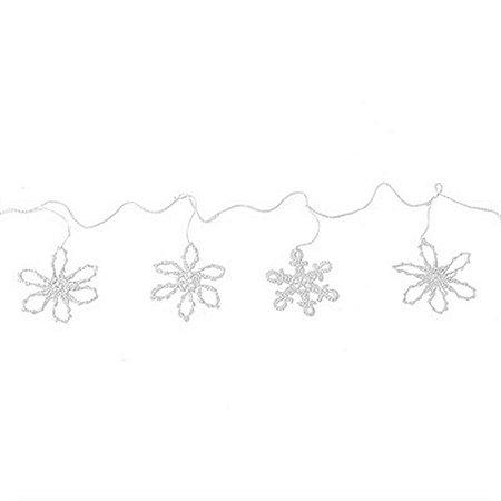 Varal Decorativo em Crochê - 2 m - Branco