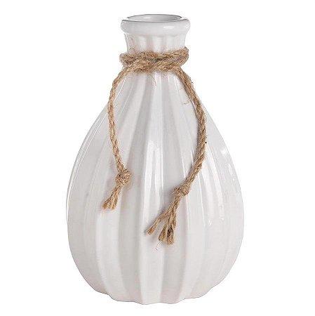 Vaso Decorativo de Cerâmica Grande - Branco