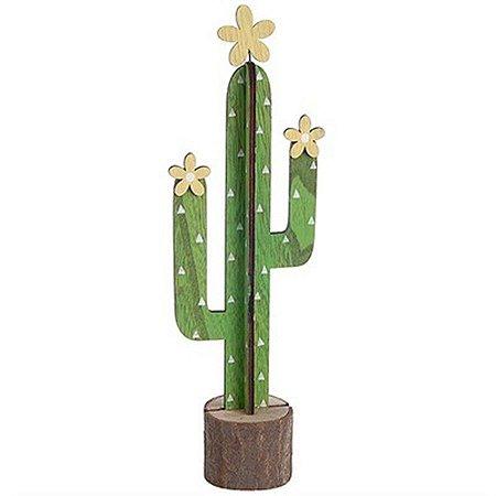 Cacto Decorativo em MDF - Modelo Mexicano