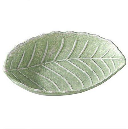 Prato Decorativo Folha de MDF Verde