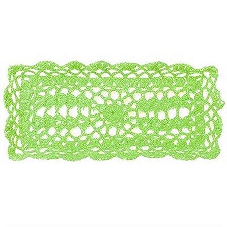 Bandeja Retangular em Crochê para Decoração - Verde
