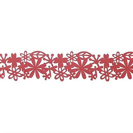 Guirlanda de Flores em Feltro - 95 cm