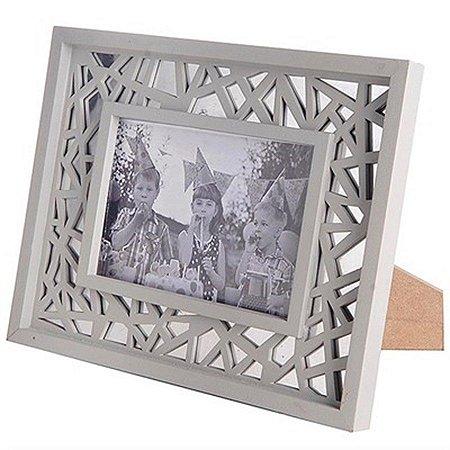 Porta-Retrato - Design Cinza - 19 x 24 cm