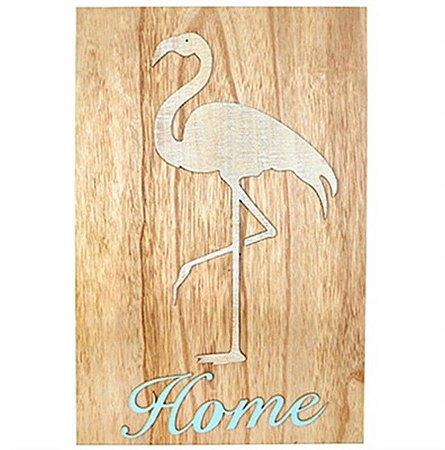 Quadro Flamingo em MDF para Decoração