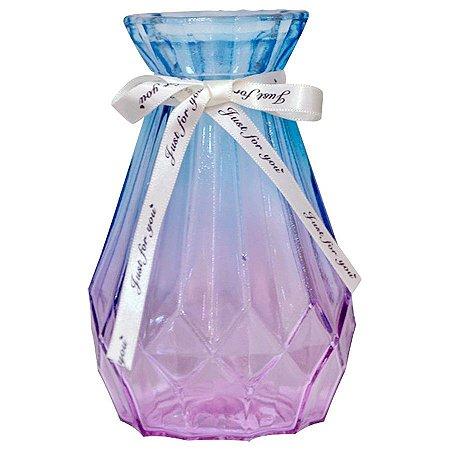 Vaso Decorativo Geométrico Furta Cor - Azul e Roxo