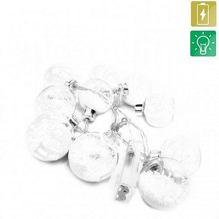 Pisca Pisca Bola Transparente - 10 Lâmpadas LED