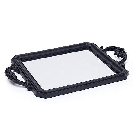 Bandeja Decorativa Espelho Preto 29X24X5  - 2 Unidades
