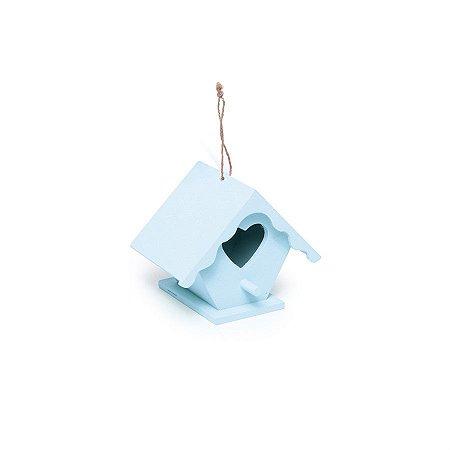 Mini Casinha Coração Azul 7,5X7,8X10,8  - 2 Unidades
