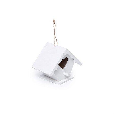 Mini Casinha Coração Branco 7,5X7,8X10,8  - 2 Unidades