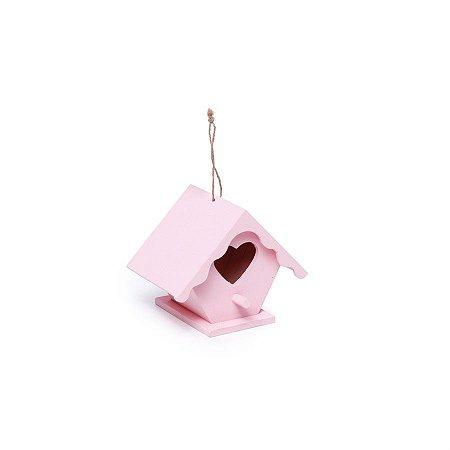 Mini Casinha Coração Rosa 7,5X7,8X10,8  - 2 Unidades