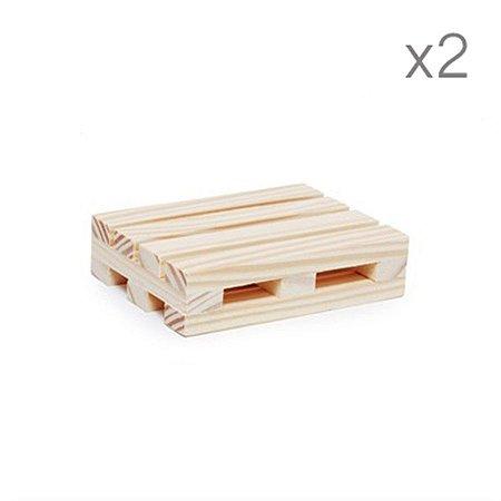 Mini Pallet Pequeno Natural 10X7,3X2,5  - 2 Unidades