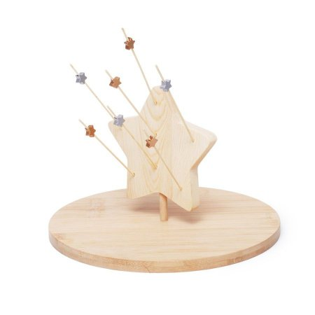 Tabua Estrela Marrom 24X24X15 Jogo Com 1 Unidades - 2 Unidades