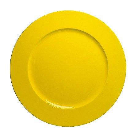 Sousplast Double Face Amarelo 33 Cm - 6 Unidades