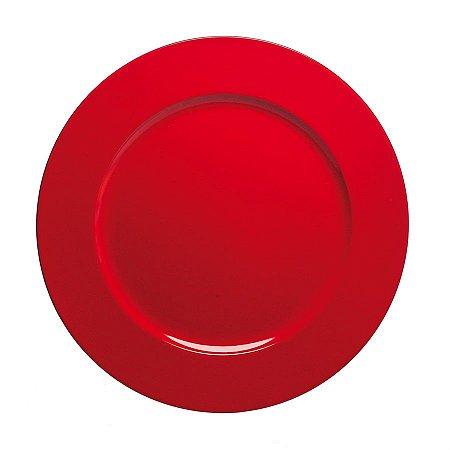 Sousplast Double Face Vermelho 33 Cm - 6 Unidades