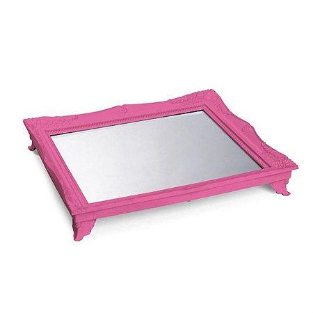 x Bandeja com Espelho Pink 29,5x24,5x4,5 - 2 Unidades