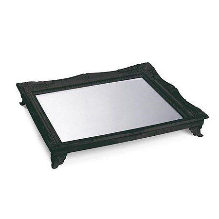 x Bandeja com Espelho Preto 29,5x24,5x4,5 - 2 Unidades