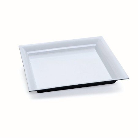Bandeja Decorativa Quadrada Branca 25x25x2,5 - 2 Unidades