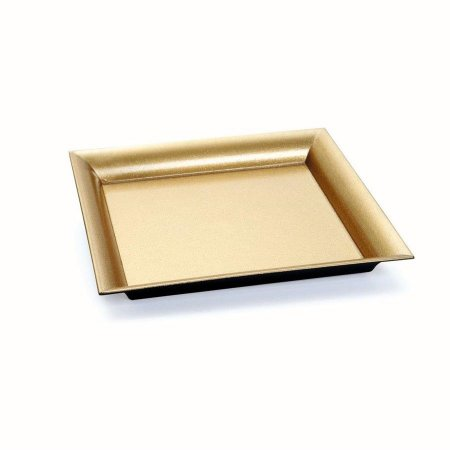 Bandeja Decorativa Quadrada Glitter Dou 25x25x2,5 - 2 Unidades