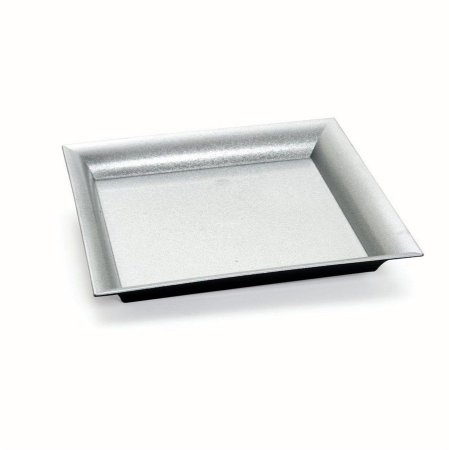Bandeja Decorativa Quadrada Glitter Prata 25x25x2,5 - 2 Unidades