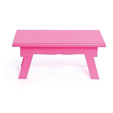 Banquinho de Mesa Alto Pink 25x14x11 - 2 Unidades